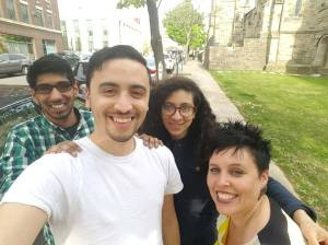 #Squadselfie (l-r): SO! interns Dhruv Sehgal, Daniel Santos, Michele Quiles and SO! Ed. in Chief J. Stoever