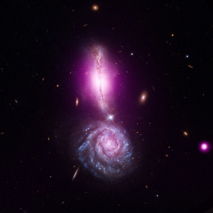 A Cosmic Exclamation Point (NASA, Chandra, Hubble, Spitzer, 08/11/11), Image from Marshall Space Flight Center Flickrstream