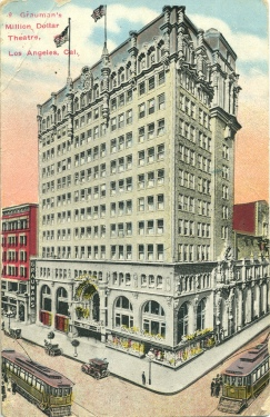 Vintage Postcard of Grauman's Million Dollar Theatre, Downtown Los Angeles,