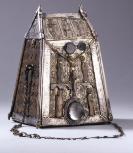 Bell-shrine; bronze and silver parcel-gilt; made for the bell of St Conall Cael;