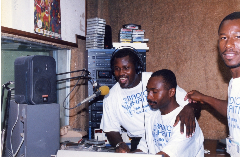 Broadcasting from Radio Haiti-Inter